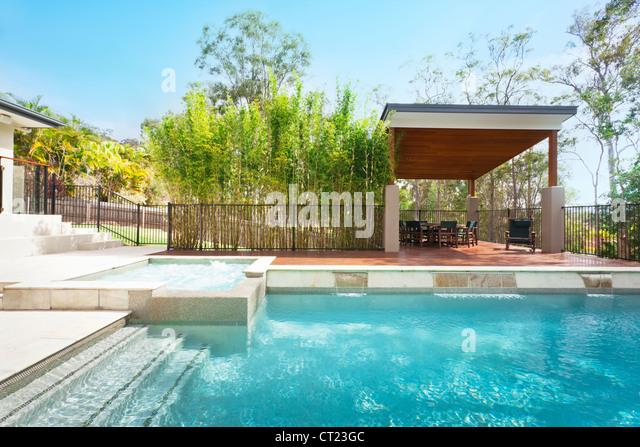 Backyard Pool Stock Photos Backyard Pool Stock Images Alamy