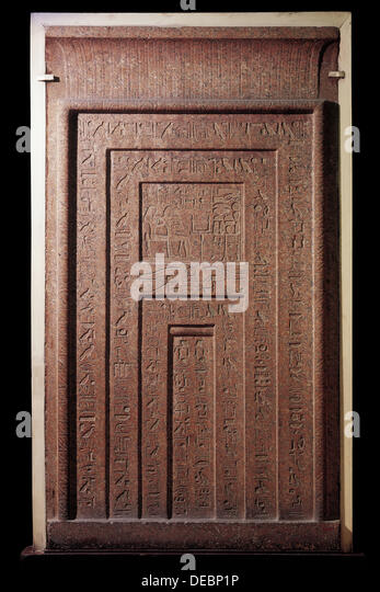 Marvelous False Door From Tomb Of Puyem Re, Prophet Of Amon, 18th Dynasty.