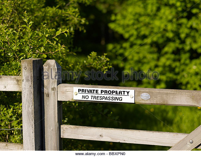 Private Property Keep Out Texas