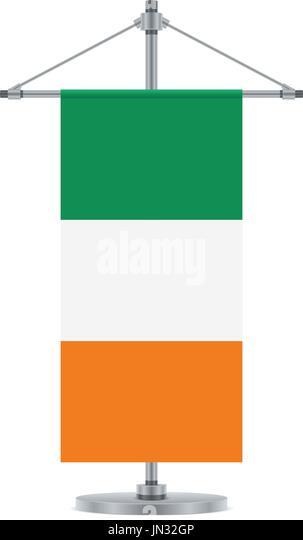 Ireland Flag Vector Illustration Flat Stock Photos  Ireland Flag