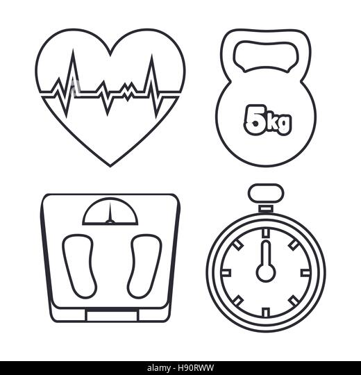 insurance flat icon set stock vector