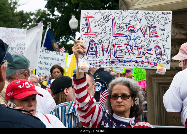 Tea Party Protest Sign Stock Photos & Tea Party Protest ...