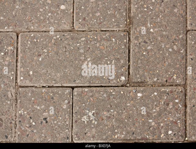 Patio Bricks Laid Herringbone Style   Stock Image