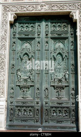 Duomo doors Florence Italy - Stock Image & Duomo Florence Door Stock Photos \u0026 Duomo Florence Door Stock ... Pezcame.Com