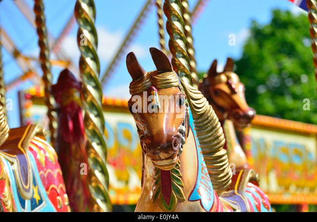 Carousel Fun Fair Horses At L Royal Windsor Horse Show Home Park