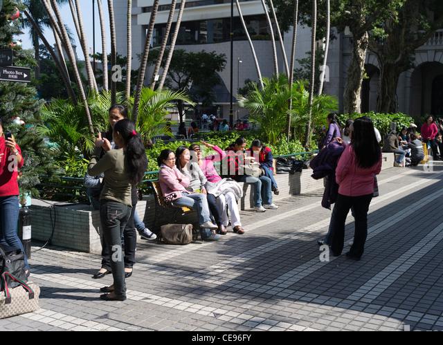 China Hong Kong Central Filipino Stock Photos & China Hong ...