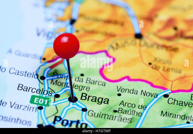 Braga Portugal View Stock Photos Braga Portugal View Stock - Portugal map braga