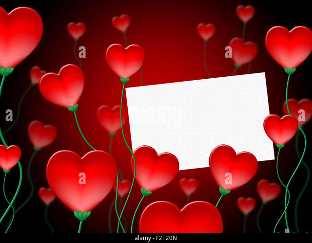 Heart Message Meaning Valentine Day And Affection   Stock Image