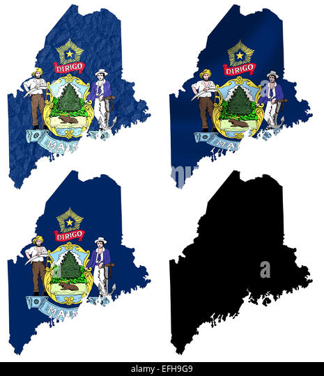 State Flag Maine Stock Photos State Flag Maine Stock Images Alamy - Us map with state flags