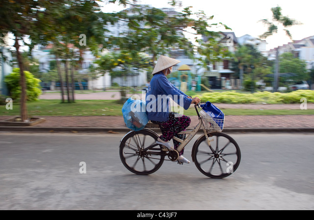 Cone Hat Bike Stock Photos Cone Hat Bike Stock Images Alamy
