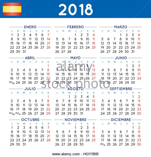 2018 Calendar Stock Photos & 2018 Calendar Stock Images - Alamy