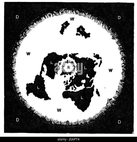 Flat earth map black and white stock photos images alamy rowbotham s flat earth map stock image gumiabroncs Gallery