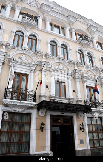 Quito ecuador old town stock photos quito ecuador old for Hotel luxury quito