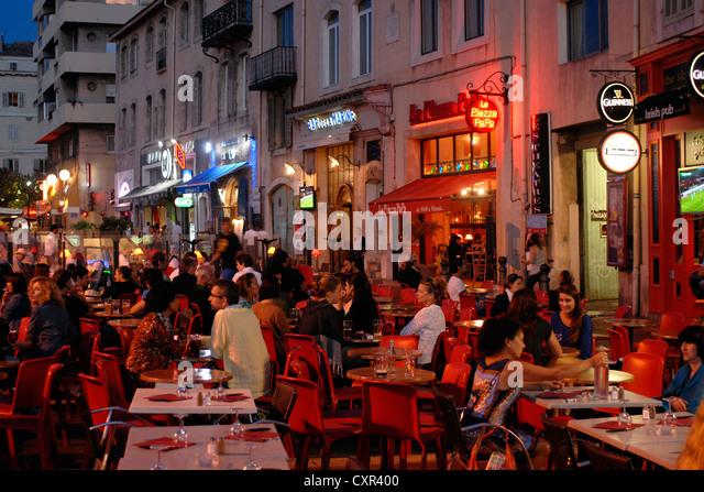 Quai rive neuve stock photos quai rive neuve stock images alamy - Au vieux port marseille restaurant ...