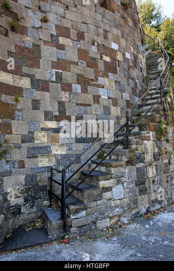 Curved Stone Staircase Stock Photos Amp Curved Stone