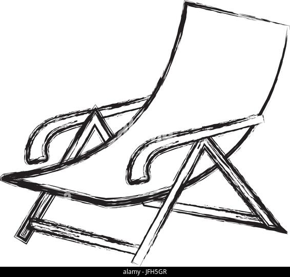 beach chair stock vector images alamy