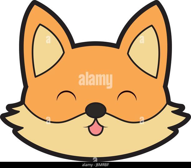 Cute cartoon fox face - photo#51