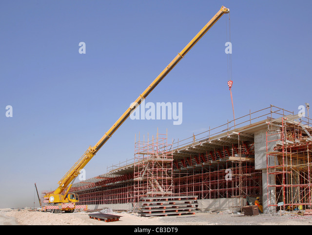 Mobile Crane Dubai : Fly over bridge road stock photos
