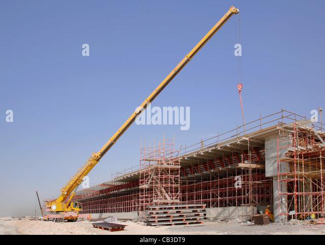 Mobile Crane Dubai : Fly over bridge road stock photos