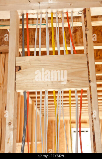 Electrical Wiring In New Home Stock Photos Electrical