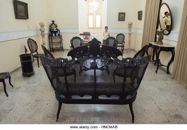 Spanish Colonial Living Room Furniture. Cuban Conservation Of Old Items And  Its History Is A