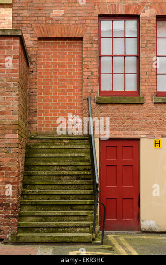 Steps lead nowhere to a bricked up doorway with graffiti tags. On 12th April & Steps To Doorway Stock Photos \u0026 Steps To Doorway Stock Images - Alamy