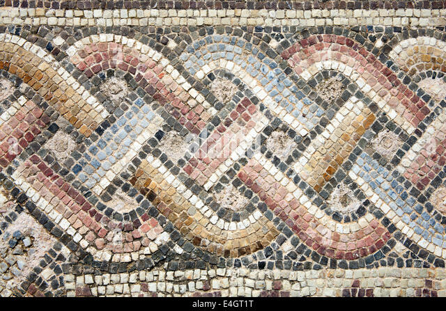 abstract 2nd century roman mosaic border stock image