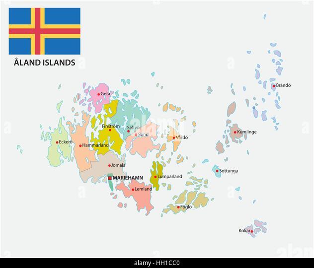Aland Finland Europe Map Stock Photos Aland Finland Europe Map - Aland islands world map