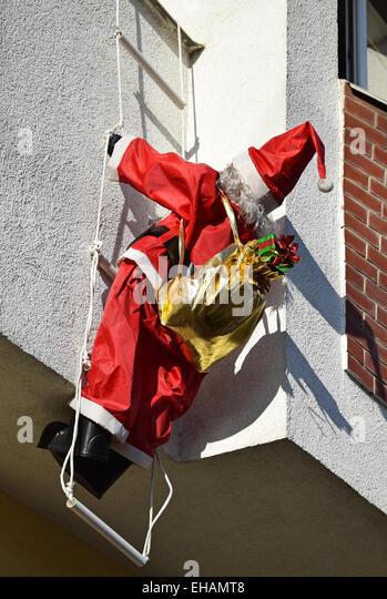 Santa Christmas Climbing Building Stock Photos Amp Santa