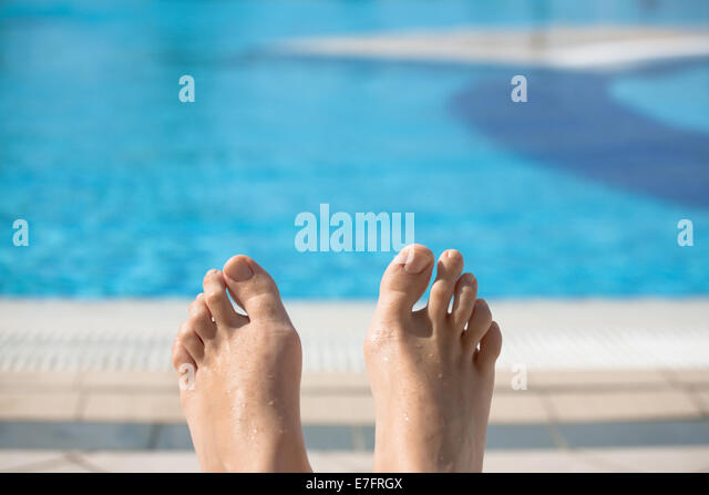 Diving Into Pool Feet Stock Photos Diving Into Pool Feet Stock Images Alamy