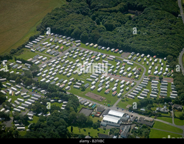 Mobile Home Park North Of Newcastle Upon Tyne East England