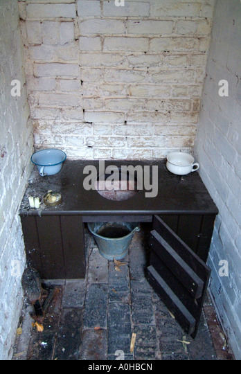 Toilet Lavatory Birmingham UK England Back To Museum Bucket Soil History Historic Old Time Fashioned Heritage