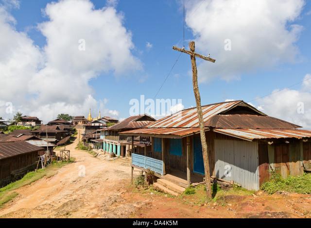 Corrugated Iron Roofs Stock Photos Amp Corrugated Iron Roofs