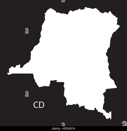 Republic Congo Administrative Divisions Stock Photos Republic