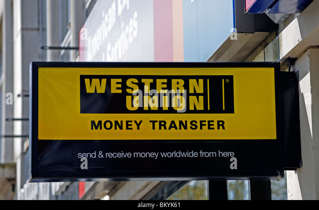 western union logo stock photos western union logo stock images alamy. Black Bedroom Furniture Sets. Home Design Ideas
