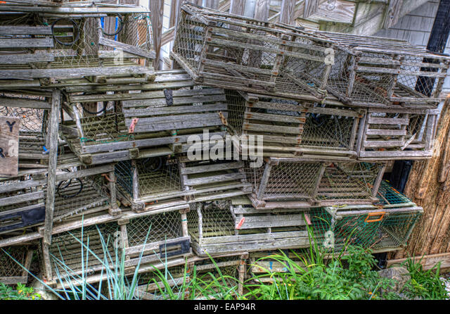 Old Lobster Pot Stock Photos & Old Lobster Pot Stock Images - Alamy