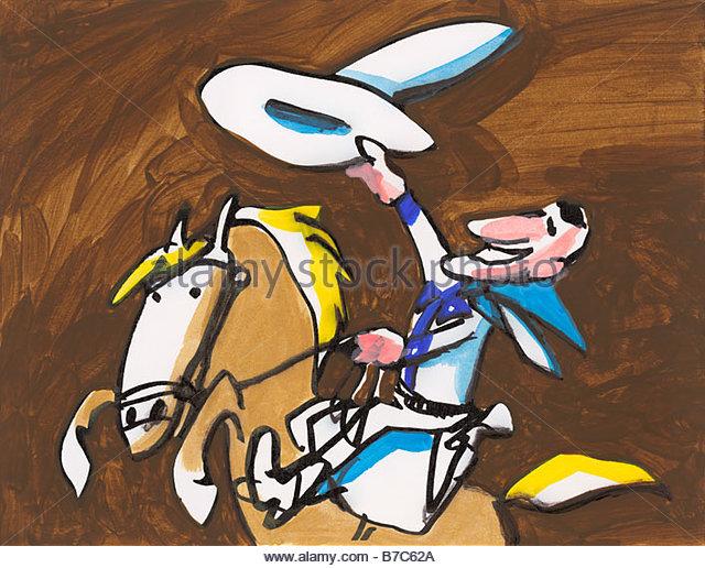 Horse Rearing Cowboy Stock Photos Amp Horse Rearing Cowboy