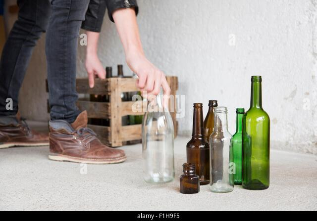 Empty wine bottles stock photos empty wine bottles stock for Empty wine crates