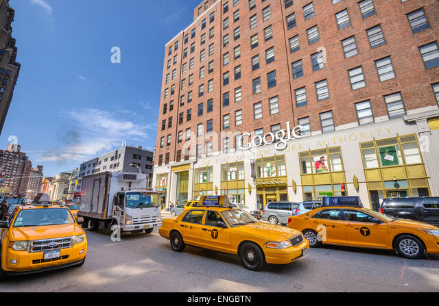 google london offices central st. new york usa at the manhattan google offices stock image london central st