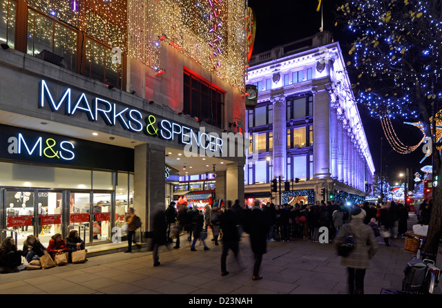 marks and spencer store christmas lights stock image - Christmas Lights Store