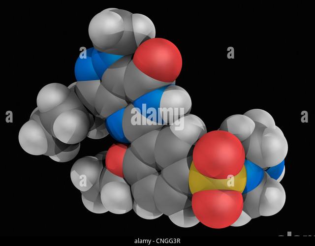 Viagra molecule formula