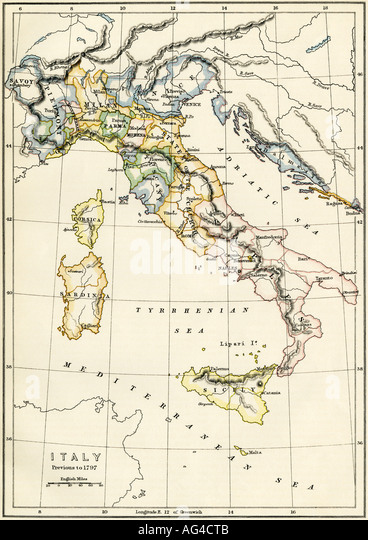 Italy Political Map Stock Photos Italy Political Map Stock - Political map of italy