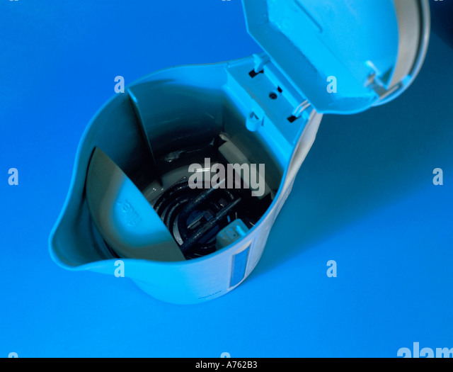 Inside Electric Kettle ~ Electric heating element stock photos