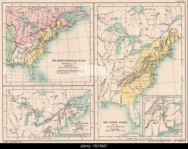 Treaty Of Paris Stock Photos Treaty Of Paris Stock - Treaty of paris map