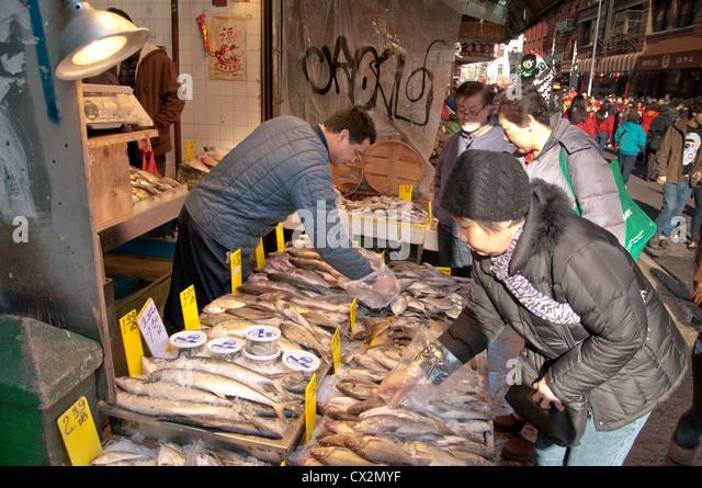 Chinatown new york city stock photos chinatown new york for Empire fish market