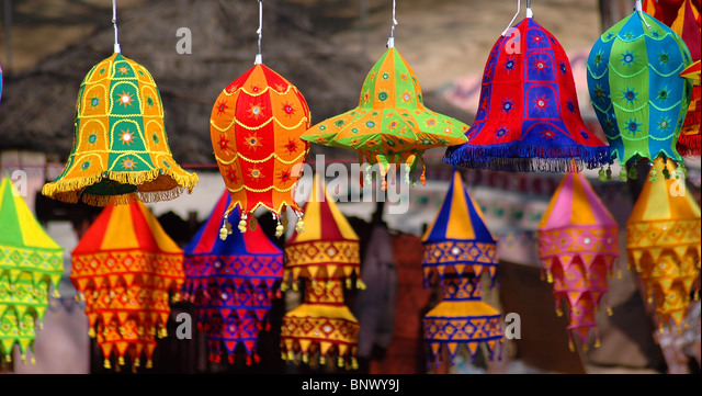 Nice Colorful Lampshades   Stock Image