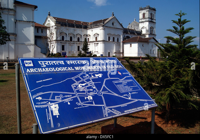 Goa monuments stock photos goa monuments stock images for Archaeological monuments in india mural paintings