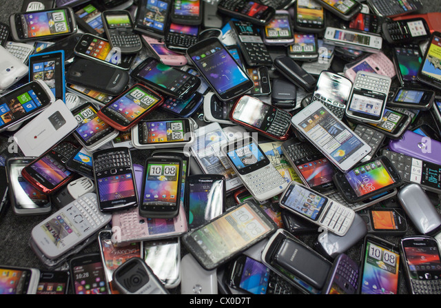 Pile Of Cell Phones : Electronic waste stock photos