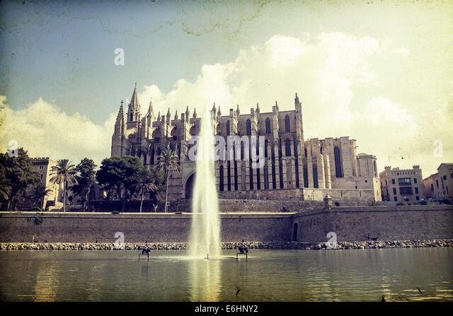 Spain Palma Majorca Cathedral Saint Stock Photos & Spain  -> Vintage Möbel Palma De Mallorca