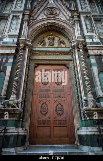 Door at Basilica di Santa Maria del Fiore the main church of Florence Italy & Duomo Florence Door Stock Photos \u0026 Duomo Florence Door Stock ... Pezcame.Com